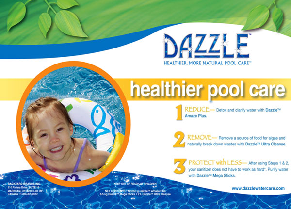 healthier pool care dazzle products